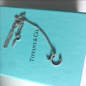 """Tiffany's """"C"""" initial necklace"""